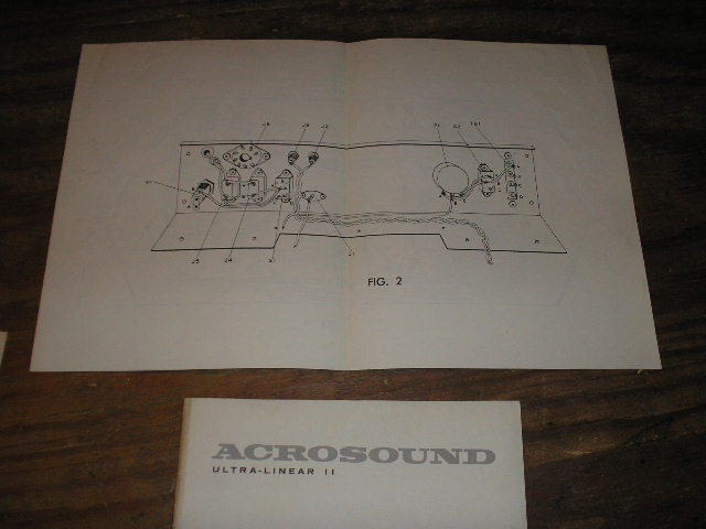 Ultra Linear II 2 Power Amplifier Assembly Diagram for Serial no. 901382