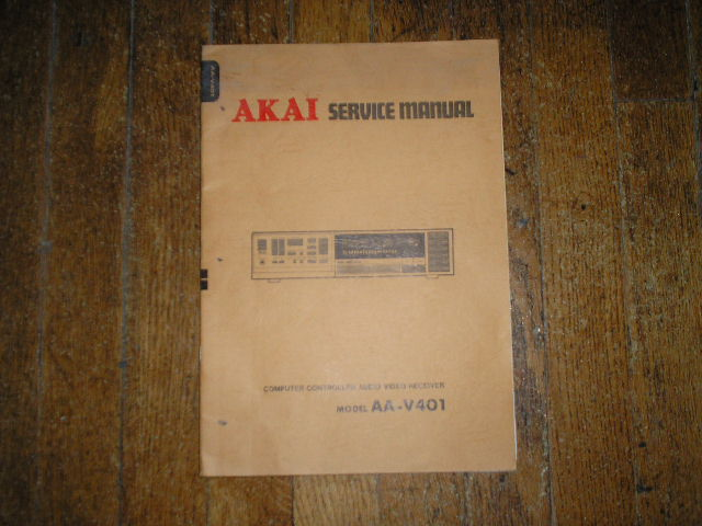 AA-V401 Audio Video Receiver Service Manual  AKAI