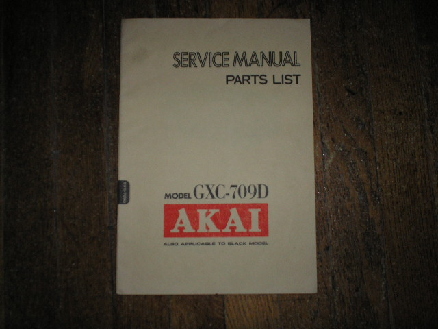 GXC-709D Cassette Deck Service Manual.