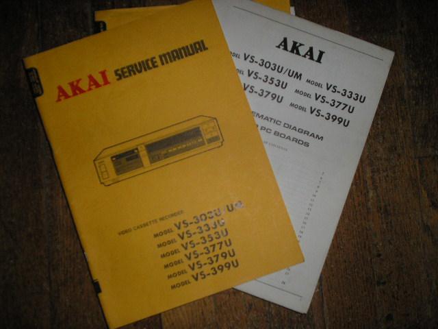 VS-303U UM VS-333U VS-353U VS-377U VS-379U VS-399U  VHS VCR Service Manual