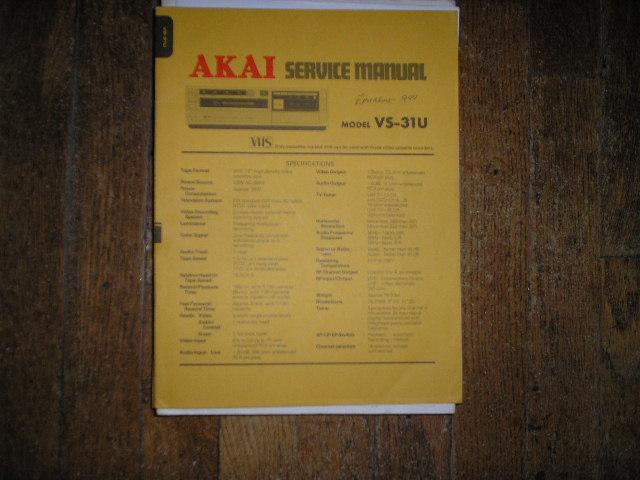 VS-31U  VHS VCR Service Manual