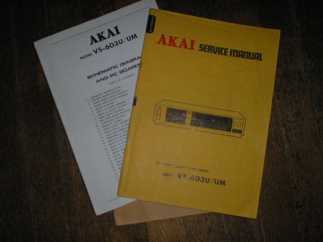 VS-603 VS-603UM  VHS VCR Service Manual...  2 Manuals