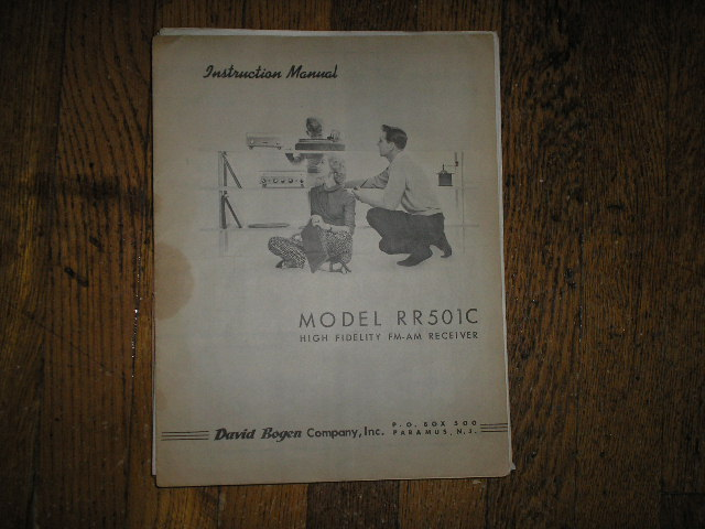 RR501C RECEIVER  Service and Instruction Manual with Schematic
