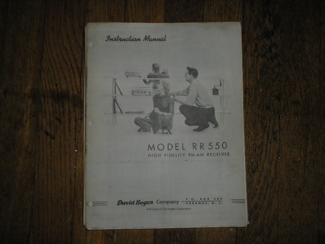 RR550C RECEIVER Service and Instruction Manual  Bogen