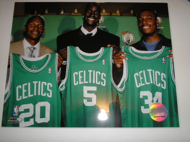 BOSTON CELTICS ALLEN GARNETT PIERCE FRAMED PHOTO  BOSTON CELTICS