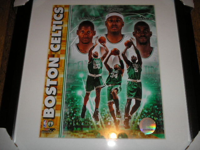 BOSTON CELTICS ALLEN PIERCE GARNETT FRAMED PHOTO  BOSTON CELTICS