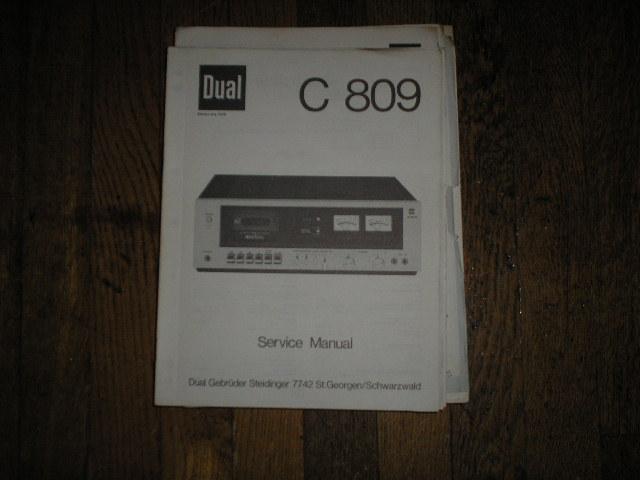 C809 Cassette Deck Service Manual