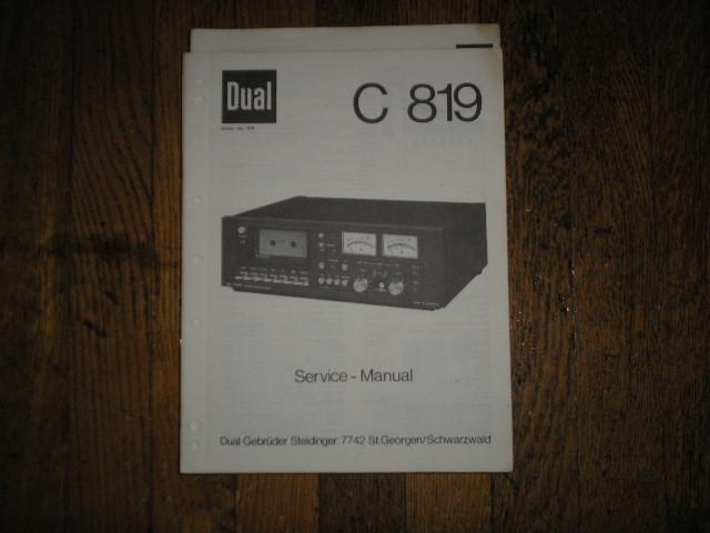 C819 Cassette Deck Service Manual