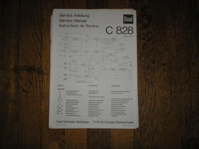 C828 Cassette Deck Service Manual