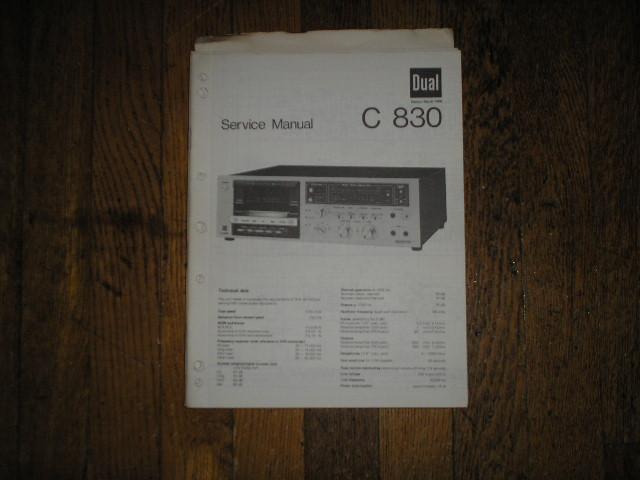 C830 Cassette Deck Service Manual