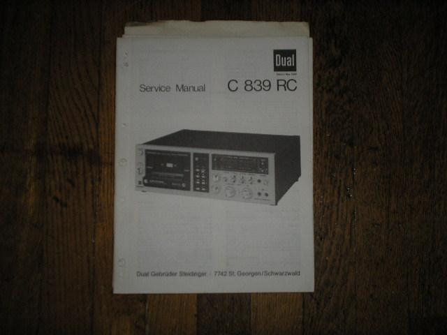 C839RC Cassette Deck Service Manual