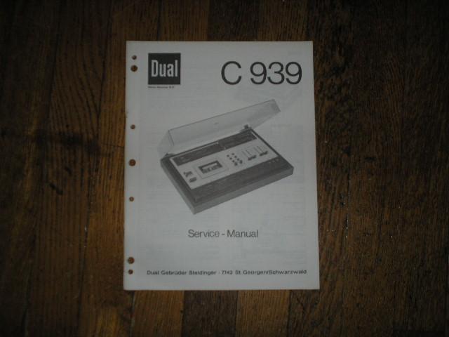 C939 Cassette Deck Service Manual
