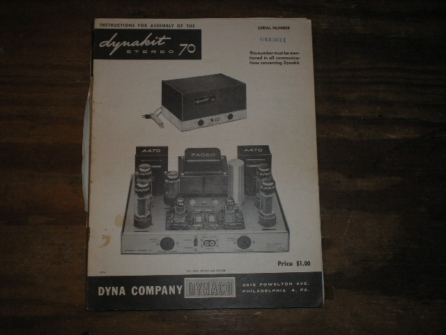 Stereo 120 Power Amplifier Assembly Manual.. Contains a schematic, parts list, and the assembly instructions..