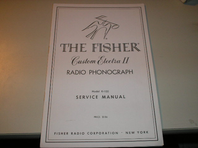 K-14 Custom Electra Radio Phonograph Service Manual  Fisher