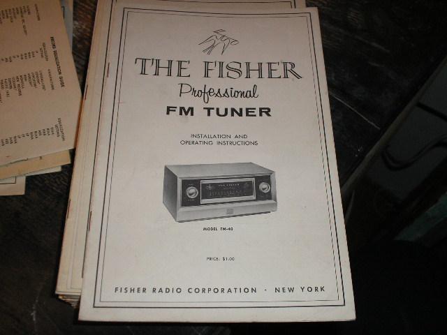 FM-40 Tuner Service Manual