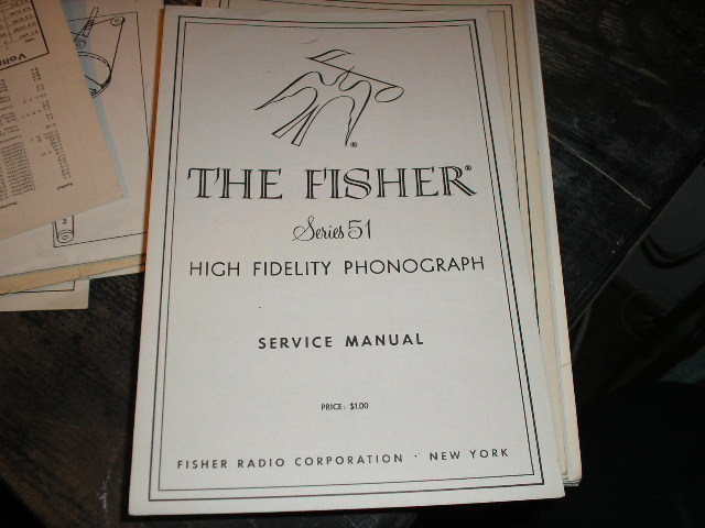 51 Phonograph Service Manual  Fisher