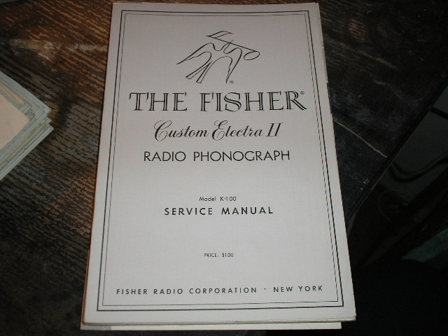 K-100 Custom Electra Radio Phonograph Service Manual
