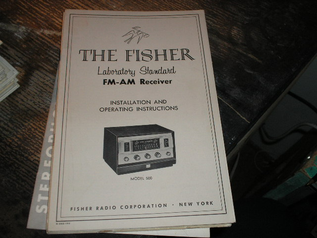 500 FM-AM Receiver Installation Operating and Instruction Manual  Fisher