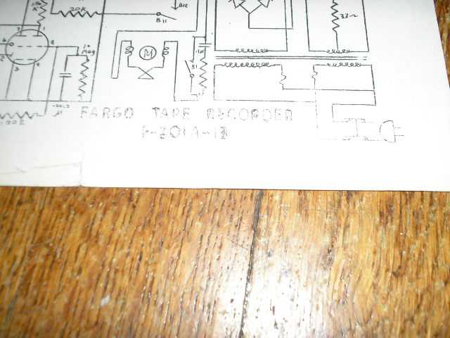 F-301A-13 Tape Recorder Schematic  FARGO