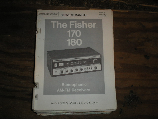 170 180  Receiver Service Manual  Fisher
