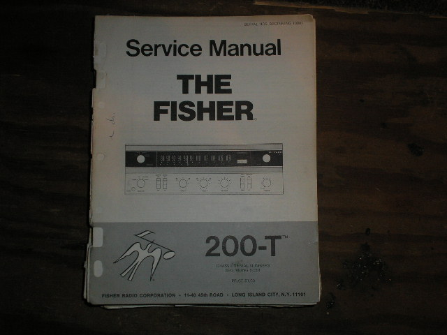 200-T  Receiver Service Manual  Fisher