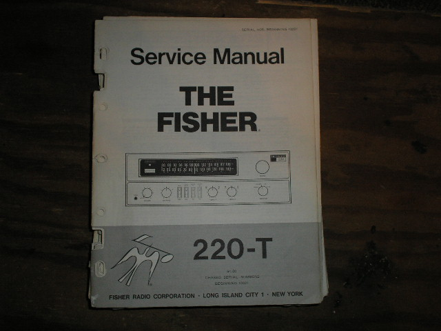 220-T Receiver Service Manual For Serial no.10001 and up  Fisher