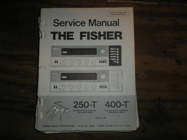 250-T 400-T Receiver Service Manual  Fisher