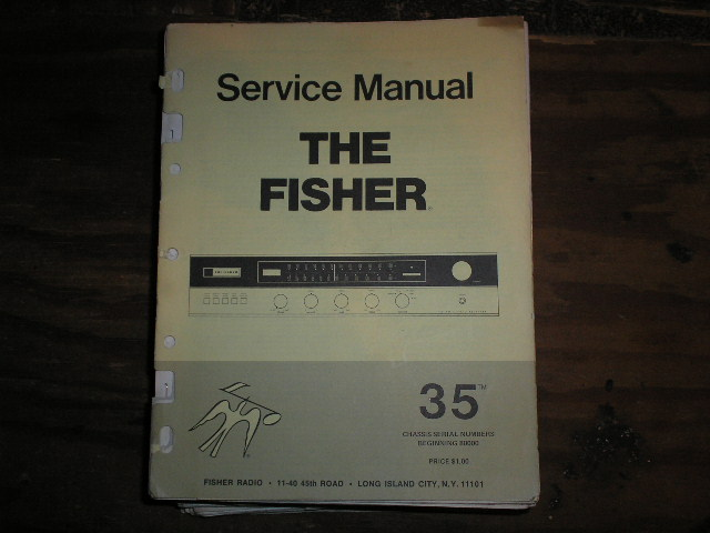 35 Receiver Service Manual  for Serial no. 80000 and up  Fisher