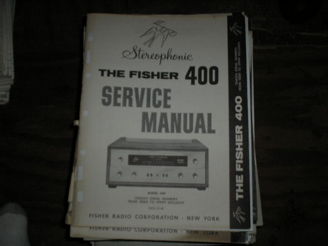 400 Receiver Service Manual for Serial no. 10001 - 19999  Fisher