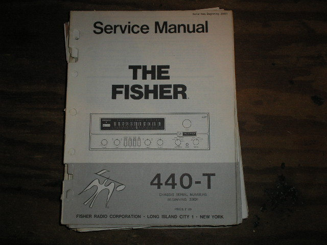 440-T RECEIVER Service Manual from Serial no. 20001  Fisher