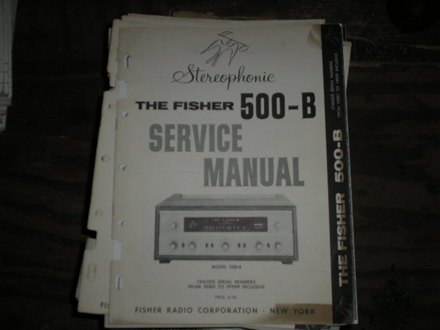 500-B Receiver Service Manual from Serial no. 10001 - 19999  Fisher