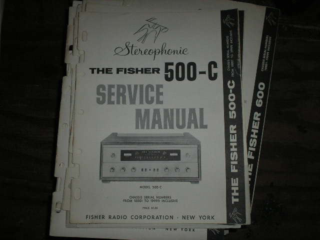 500-C Receiver Service Manual from Serial no. 10001 - 19999  Fisher