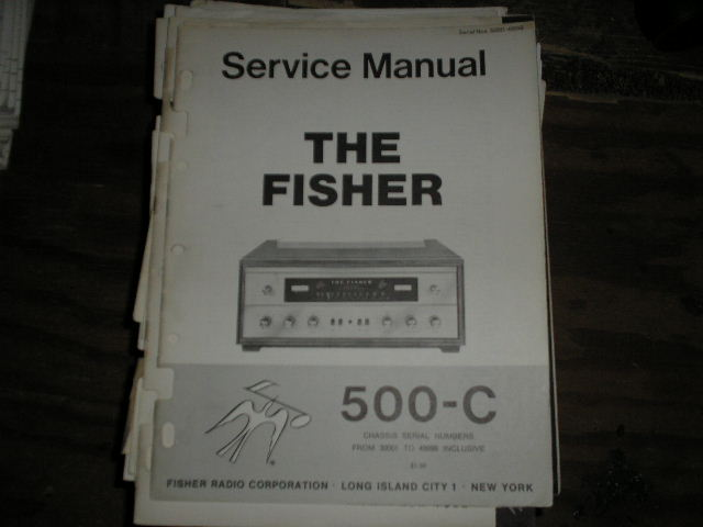 500-C Receiver Service Manual from Serial no. 30001 - 49999  Fisher