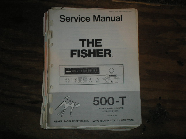 500-T Service Manual from Serial no. 10001  Fisher