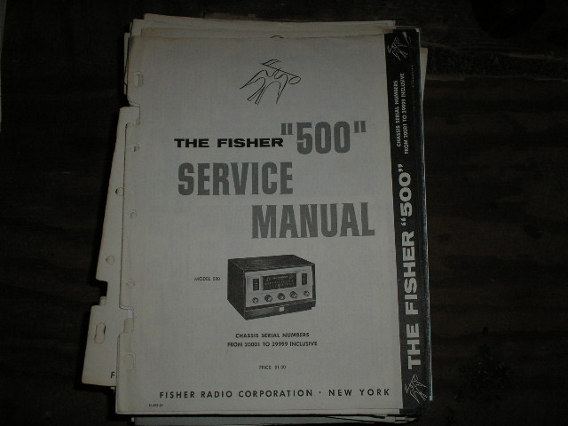 500 Receiver Service Manual from Serial no. 20001 - 29999  Fisher
