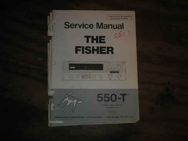 550-T Service Manual from Serial no. 10001  Fisher