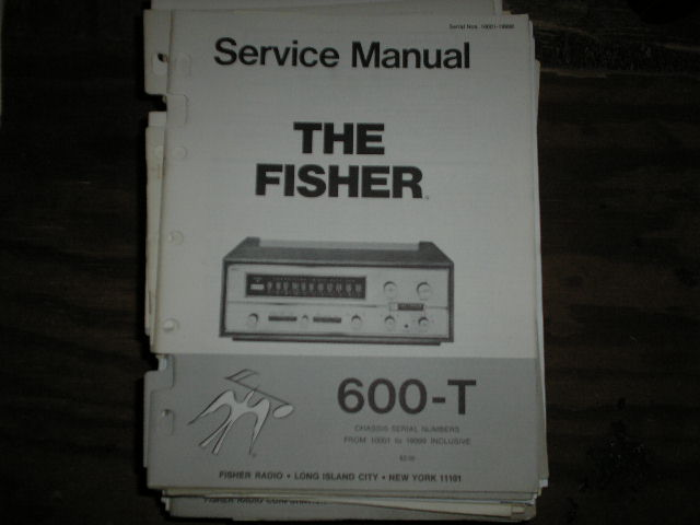 600-T Receiver Service Manual from Serial no. 10001 - 19999  Fisher
