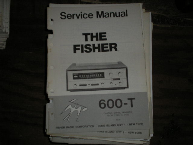 600-T Receiver Service Manual from Serial no. 21000 - 27000  Fisher