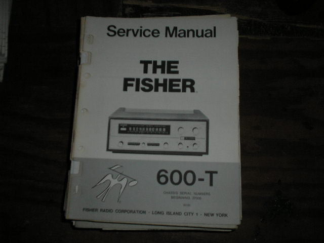 600-T Receiver Service Manual from Serial no. 37000 - 38999  Fisher