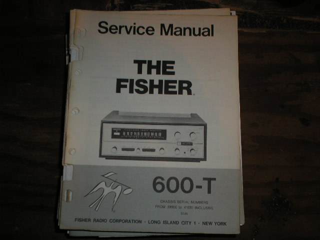 600-T Receiver Service Manual from Serial no. 39000 - 41000  Fisher