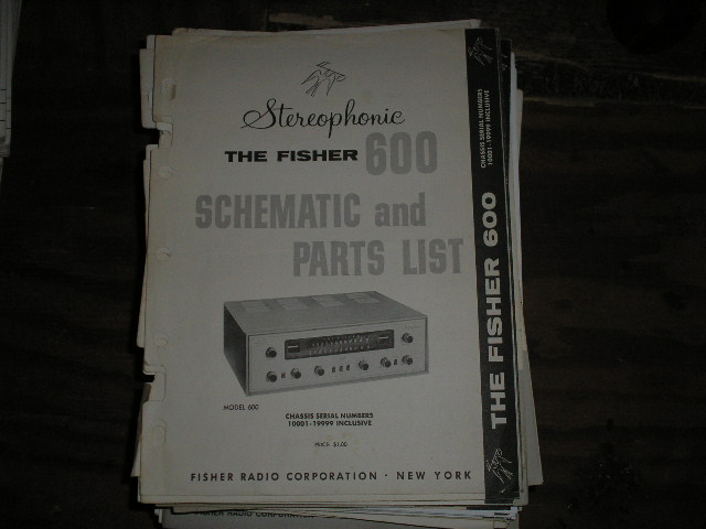 600 Receiver Service Manual from Serial no. 10001 - 19999  Fisher