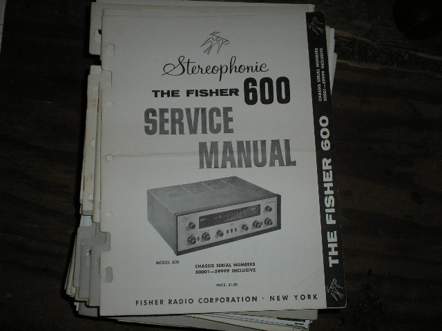 600 Receiver Service Manual from Serial no. 50001 - 59999  Fisher