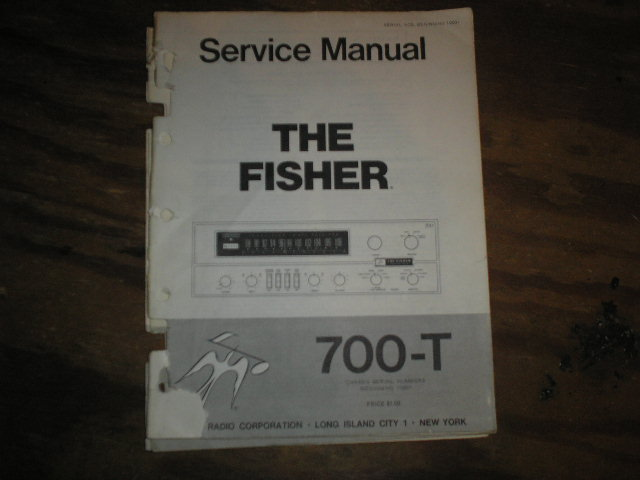 700-T Service Manual from Serial no. 10001  Fisher