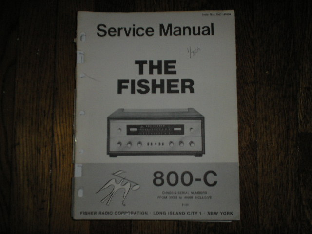 800-C Receiver Service Manual from Serial no. 30001 - 39999  Fisher