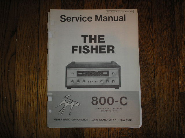 800-C Receiver Service Manual from Serial no. 48500 - 51500  Fisher