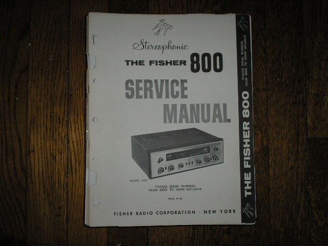 800 Receiver Service Manual from Serial no. 10001 - 19999  Fisher