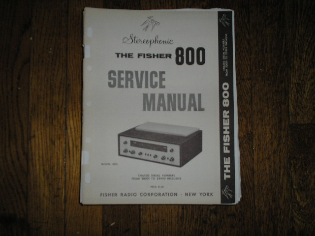 800 Receiver Service Manual from Serial no. 20001 - 29999  Fisher