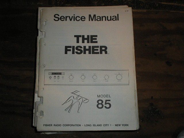 85 Control Amplifier Service Manual