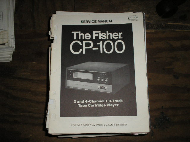CP-100 8 Track Player Service Manual