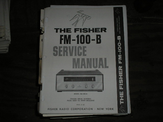 FM-100-B Tuner Service Manual for Serial no. 10001 - 19999